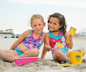 Beach day trips near NJ's shore are always popular with kids! Photo courtesy of Wildwoods Tourism