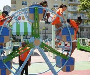 Ferris wheel at Beach Channel Playground in Queens