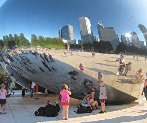 "Snag a selfie at Cloud Gate, otherwise known as ""The Bean."" Photo by Julen Iturbe-Ormaetxe/CC BY 2.0"