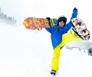 Snowboard show off at Big Bear Mountain Resort