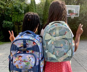 The popular Mackenize Pottery Barn backpack comes in four sizes.