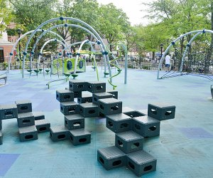 Recently renovated Moore Homestead Playground in Queens