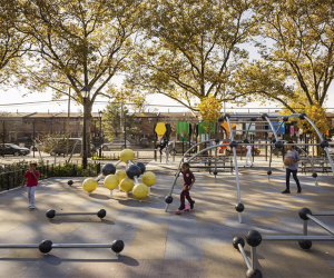 Playgrounds, sports equipment, a performance and event space, athletic fields, and more make Betsy Head Park a neighborhood gem.