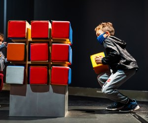 Try to Solve a giant Rubik's Cube at the Liberty Science Center. Photo courtesy of LSC