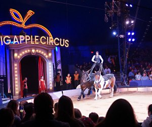 Ringmaster Storm Marrero directs the action as the Big Apple Circus plays Damrosch Park. Photo by Jody Mercier