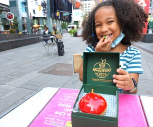 Enjoy a Big Apple-inspired doughnut in the heart of Times Square. Photo by Jody Mercier
