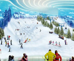 Ski on real snow at BIG SNOW, American Dream's indoor ski park. Photo courtesy of American Dream
