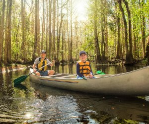 Try a family canoe paddle with Earthplace