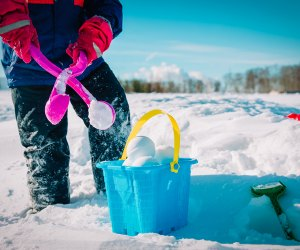 Dig out the beach toys and use them for playing with snow!