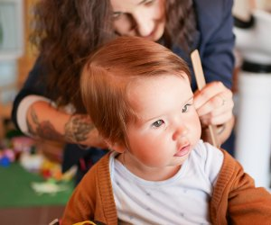 Professionals offer tips for parents trying home haircuts.