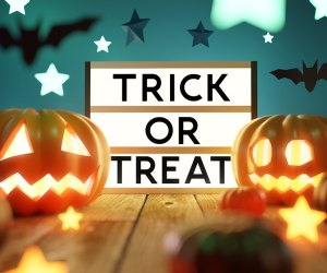 Long Island has plenty of indoor trick or treating options if the rainy weather deters you from your usual trick or treating route. Photo by Mommy Poppins