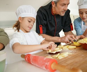​Cooking classes help kids master hand-eye coordination and practice social skills. Photo via Bigstock