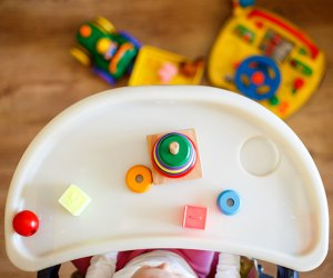 Keep babies occupied with highchair activities at their own baby activity center.