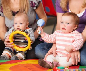 Gymboree Play & Music offers Mommy & Me classes for babies and toddlers ages 0-3 and their caregivers.
