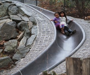 The super-long slides are back and better than ever at Billy Johnson Playground in Central Park.