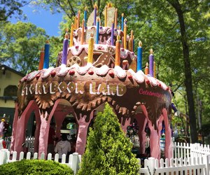 Have lunch or a snack in the Birthday Cake Pavilion.