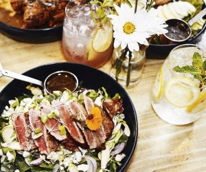 Enjoy seasonal food made with organic and/or locally sourced contemporary ingredients.at Blue Dog.