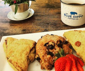 Breakfast pastries at The Blue Hippo Coffee Co. in Verona, New Jersey