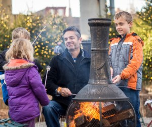 After a spin on the ice, warm up and roast marshmallows at the Winterfest Fire Pit Lounge. Photo by Matt Stanley
