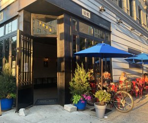 Bono Trattoria's bright exterior and fresh flavors welcome guest for outdoor dining.