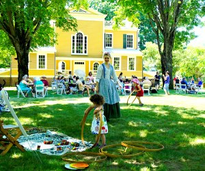 Guests of all ages enjoy 19th-century music, games, and some unusual ice cream flavors at Boscobel's Ice Cream Social. Photo by Lauren Daisley