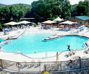 Rocking Horse Ranch's Boulder Bay boasts two pools and plenty of slides to keep kids entertained.