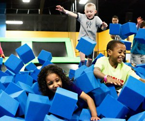 Bounce Trampoline Sports offers toddler time and open bounce sessions.