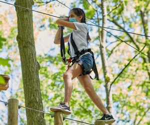 Challenge yourself with sky-high obstacles at Boundless Adventures in Purchase, N.Y.