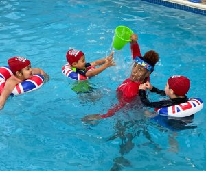 Safety meets fun at the British Swim School. Photo courtesy of the school