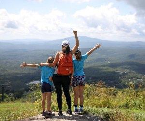 Hit the trail to see Vermont's gorgeous mountains. Photo courtesy of Bromley Mountain