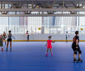 Whether you're a daring speed seeker or just beginning, circle over to the Pier 2 Roller Rink. Photo by Alexa Hoyer