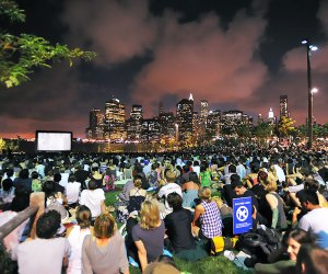Pull up a blanket for Movies With a View at Brooklyn Bridge Park. Photo by Julienne Schaer