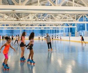 Roller Skating at Brooklyn Bridge Park