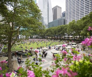 Bryant Park is one of New Yorkers' favorite hangouts. Photo by Brittany Pertronella fro NYCgo