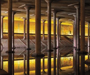 Inside the Buffalo Bayou Cistern. Photo courtesy Page Southerland Page