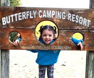 a girl having fun at Butterfly Camping Resort