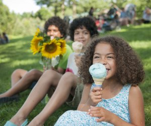 Buttonwood Farm serves up ice cream and sunflowers. Photo courtesy of Visit CT