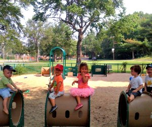 Newton's Cabot Tot Lot is one of many toddler-centric playgrounds in greater Boston.