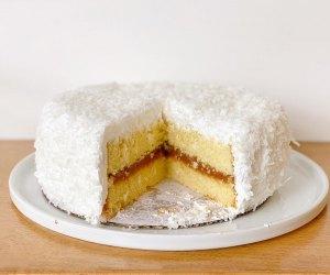 Cake Monkey's Mogul cake has caramel, marshmallow and toasted coconut!