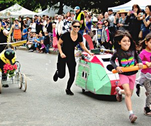 The peoples sculpture race at the Cambridge River Festival. Photo by Greg Cook