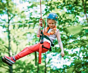 Ziplining is one of many adventurous activities at Camp Birch Hill. Photo courtesy of the camp