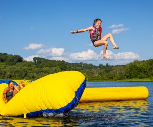 Frolicking on Mount Tom Pond is one of more than 30 activities at Chinqueka. Photo courtesy of Camp Chinqueka