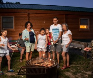 Enjoy a family fire at Cherry Hill Park campground in College Park. Photo courtesy of Cherry Hill Park.