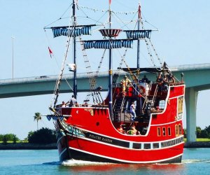 people take a pirate boat ride