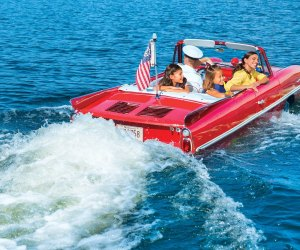 Thrill to a ride in a classic amphicar.