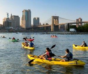 Go kayaking in Brooklyn Bridge Park this fall