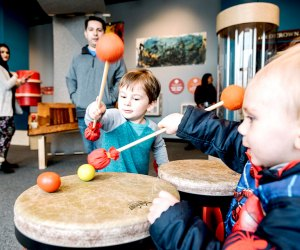 Sound Playground lets little ones (and curious grownups) explore all things sound. Photo courtesy of Chicago Children's Museum