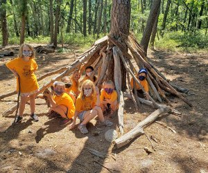Walk in the woods, dig in the dirt, and wade in the water during the week-long nature camps at Cedar Run's Go Wild Summer Camp. Photo courtesy of the camp