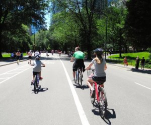Fewer cars means more space for bikes! Photo courtesy NYC Parks