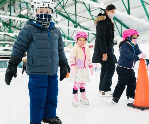 The Sky Rink at Chelsea Piers is open for lessons and hockey programs. Photo courtesy of Chelsea Piers